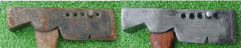 rust on a hatchet removed with evapo-rust